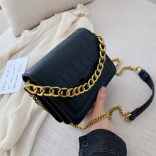Women's small bag 2019 new Korean version of Joker slung shoulder fashion chain portable small square bag(China)