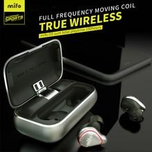 Mifo O5 Bluetooth 5.0 słuchawki douszne bezprzewodowy zestaw słuchawkowy IPX7 wodoodporna wkładka douszna wbudowany mikrofon dźwięk radia słuchawki Bluetooth