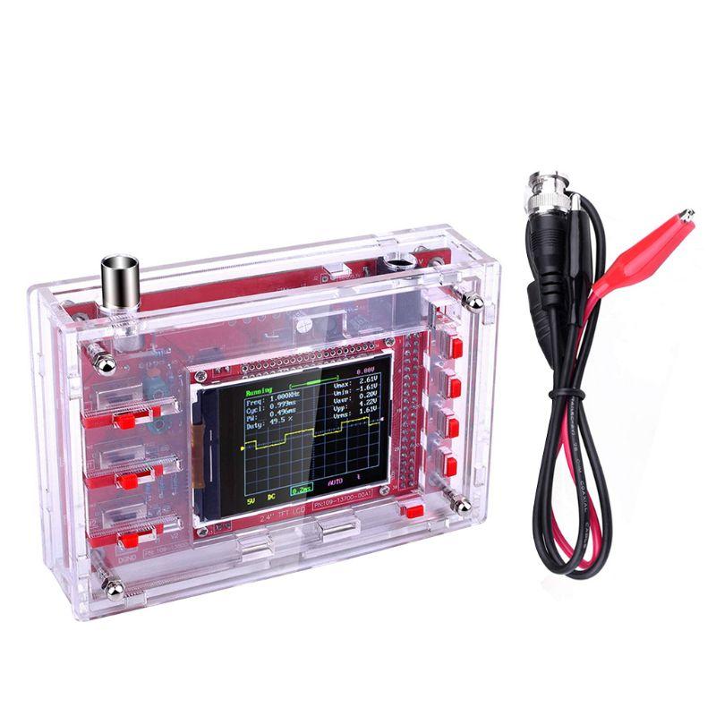 Комплект цифрового осциллографа карманного размера TFT 2,4 дюйма, DIY детали, ручной + акриловый чехол для DIY, чехол для DSO138|Осциллографы|   | АлиЭкспресс