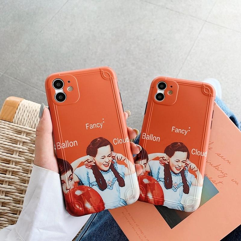 Divertente Cute Girl Modello Per iphone 11 Pro Max 7 8 più di X XR XS Max Del Fumetto IMD Posteriore Molle copertura Per iphone SE 2020 Matte Funda