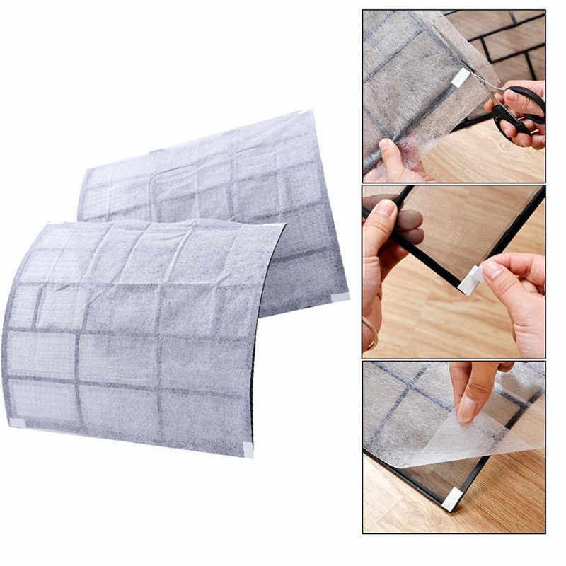 PET 2 Sheet Air Cleaning Filter Dustproof Paper Livingroom Dust Control Air Conditioning Filter Convenient Practical Hotel Home