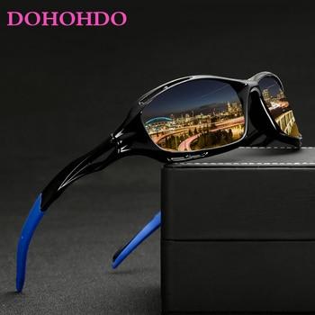 DOHOHDO New Men Glasses Outdoor Sport Mountain Bike Bicycle Motorcycle  Night Driving Sunglasses Fishing Running MTB
