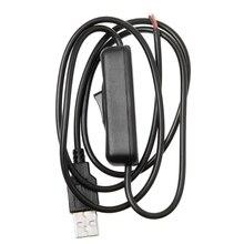 5 فولت USB 2.0 ذكر جاك 2Pin 2 سلك الطاقة كبل شحن الحبل لتقوم بها بنفسك 1 متر سلك مع التبديل
