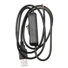 5 в USB 2,0 штекер 2pin 2 провода зарядный кабель шнур DIY 1 м провод с переключателем