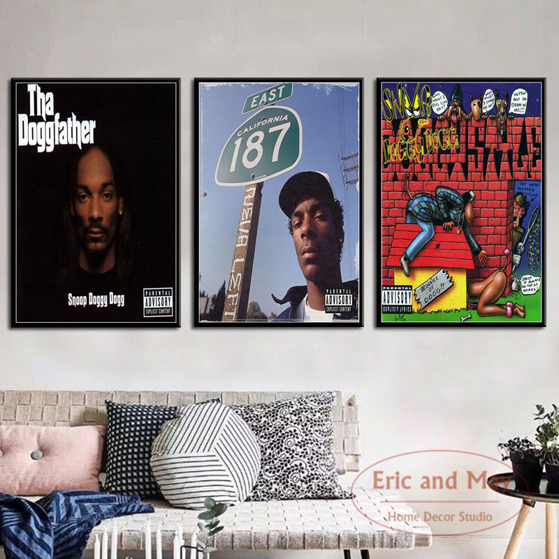 Snoop Dogg Doggystyle Tha Doggfather Neva Left Hot Albums Music Rap Hip Hop Art Painting Vintage Canvas Poster Wall Home Dec image