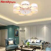 Cristal plafonniers moderne à la mode design salle à manger lampe à LED pendente de teto de blanc ombre acrylique lustre 110 ~ 220V