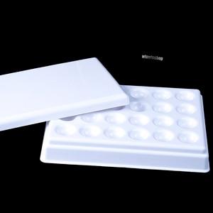 Image 3 - Plateau hydratant mélangeur en porcelaine avec couvercle, laboratoire dentaire, Palette en céramique à 24 fentes avec couvercle
