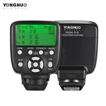 YONGNUO YN560-TX II bezprzewodowa lampa błyskowa kontroler wyzwalacza dla Yongnuo YN-560III YN560IV RF-602 RF-603 II dla Canon Nikon tanie i dobre opinie Erilles YN 560-TX 0 25 10x 5x 5 Yongnuo YN560-TX Wireless Flash Controller