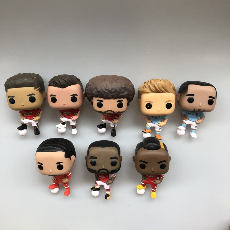 Original Funko pop Secondhand Sports: Football Soccer Stars Players Vinyl Action Figure Collectible Model Loose Toy No Box