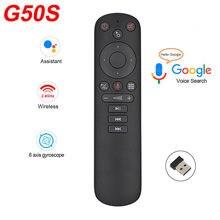 G50 mouse de ar google voz microfone giroscópio 2.4g sem fio ir aprendizagem g50s controle remoto para android caixa tv