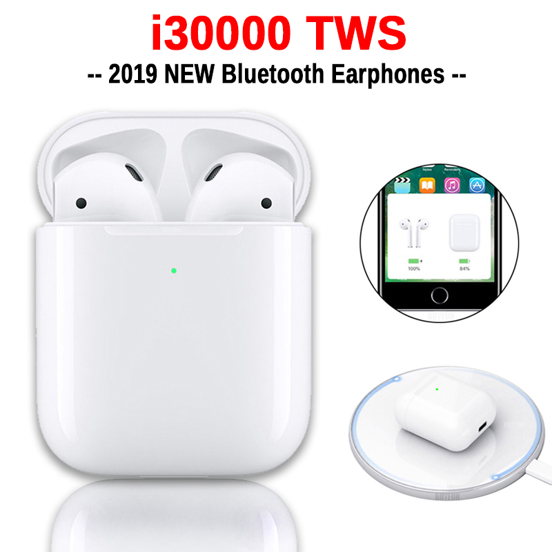 I30000 TWS Wireless Earphone 1:1 Replica Air 2 Pop Up Earbuds Tap Control Wireless Charging PK I200 I500 I1000 I9000 I10000 TWS
