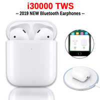 i30000 TWS Wireless Earphone 1:1 Replica Air 2 Pop up Earbuds Tap Control Wireless Charging PK i200 i500 i1000 i9000 i10000 TWS