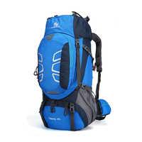 Spezialisiert 60L Klettern Camping Rucksack Große Kapazität Wandern Bergsteigen Rucksack Outdoor Trekking Reise Taschen 6 Farben