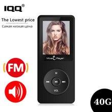 Mp3 плеер IQQ X02, ультратонкий плеер со встроенной памятью 40 ГБ и динамиками, с функцией воспроизведения 80 часов без потерь, с радио/FM/записью