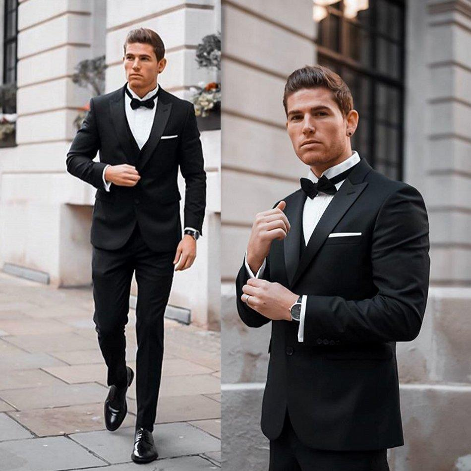 handsome-black-wedding-tuxedos-peaked-lapel-slim-fit-two-button-groom-wear-formal-party-prom-men-suit-blazer(jacket+pants) (2)