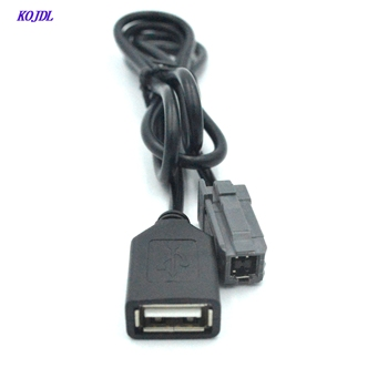 Car USB cable Adapter Conector Audio cable aux INPUT to Media CD player data line  For Toyota  Camry RAV4 LEXUS 3.5mm aux usb doitop built in bluetooth wall mount cd player prenatal audio english repetition learning machine support cd aux usb fm play hot