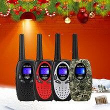 2 шт. RETEVIS RT628 Мини Портативная рация для детей радио 0,5 Вт PMR UHF частота, переносной радиоприемник, Портативная радиостанция, рождественский подарок