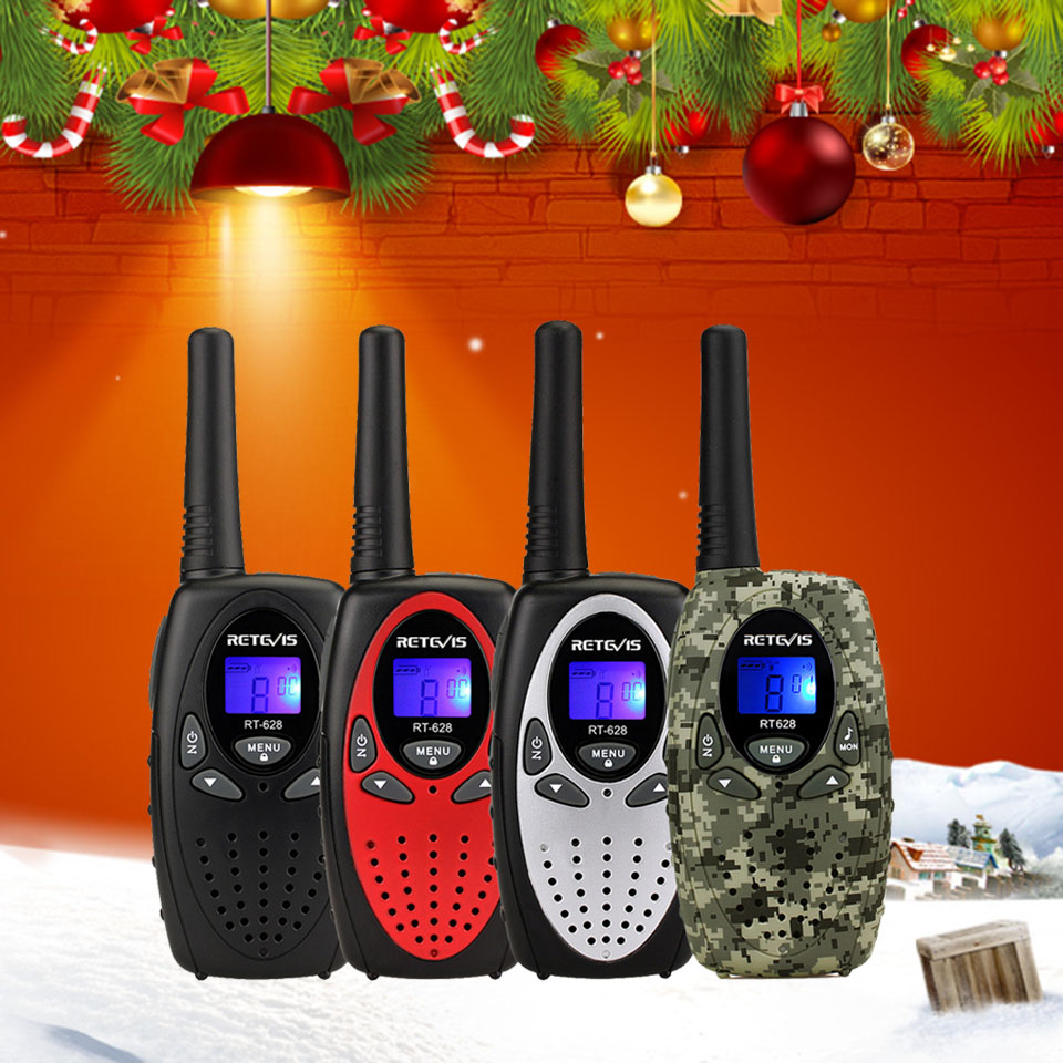 2pcs RETEVIS RT628 Mini Walkie Talkie Kids Radio 0.5W PMR PMR UHF Frequency Portable Radio Station Handheld Radio Christmas Gift