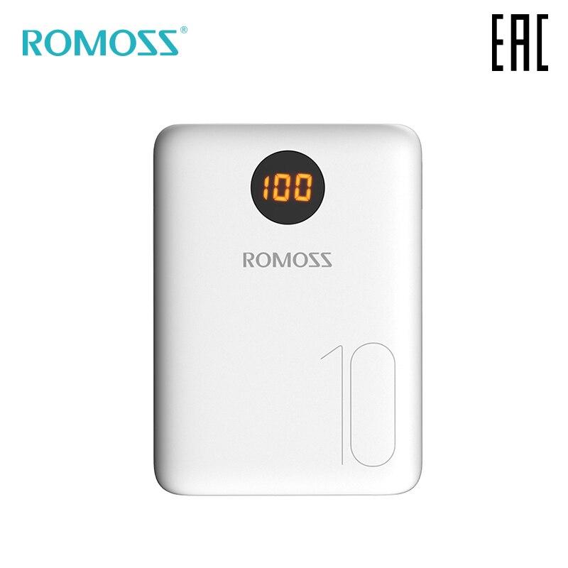 Batterie externe Romoss OM10 10000 mAh avec indication de la banque de charge avec indicateur [livraison depuis la russie]
