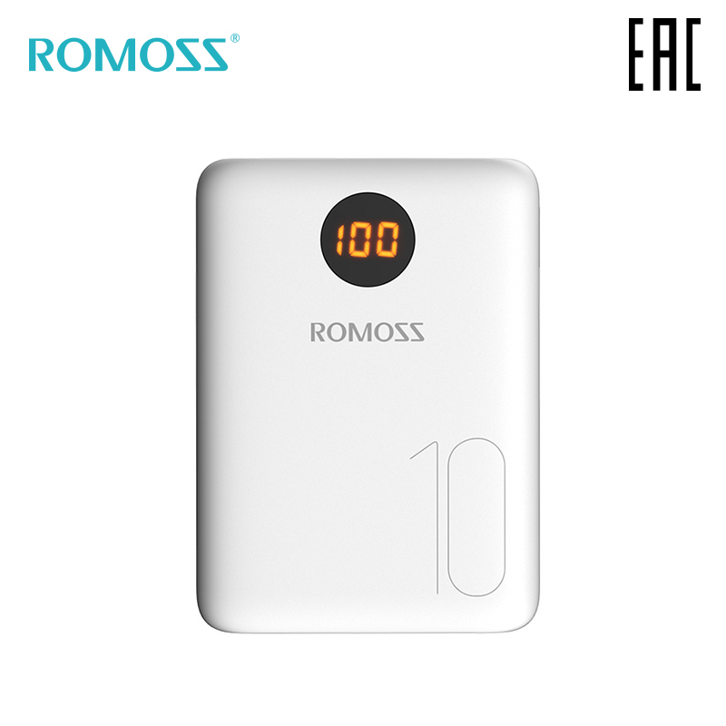 External Battery Romoss OM10 10000 mAh with indication of charge bank with indicator [delivery from Russia]