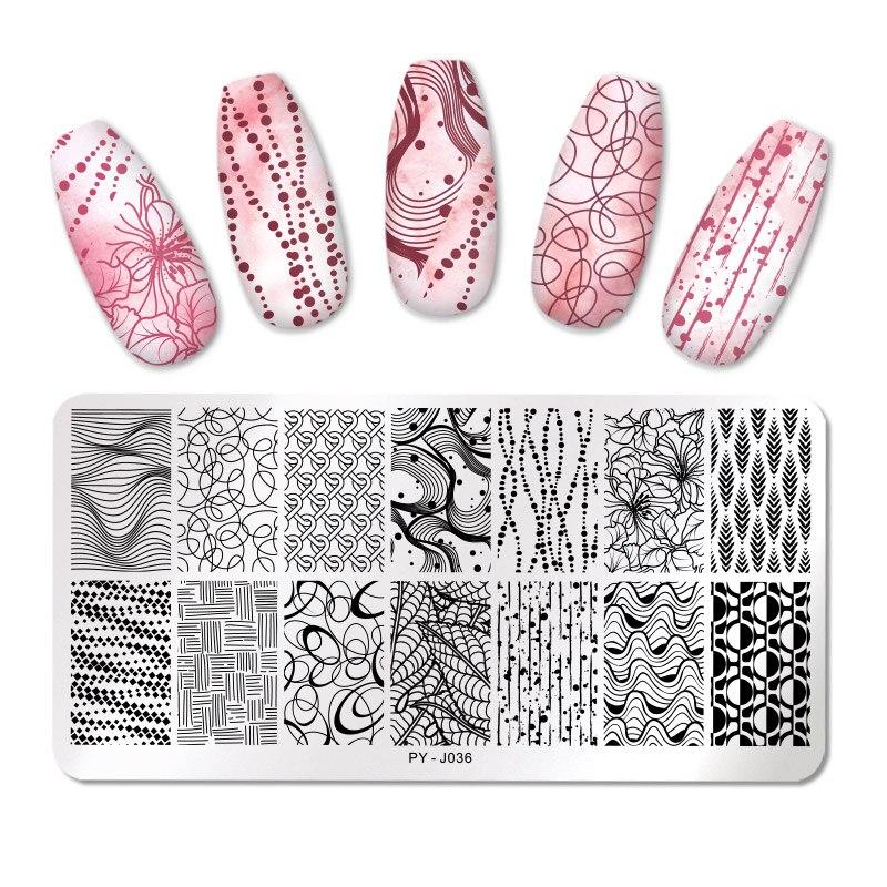 Пластины для стемпинга ногтей PICT YOU, пластины для дизайна ногтей, шаблоны для стемпинга, трафареты, инструменты из нержавеющей стали