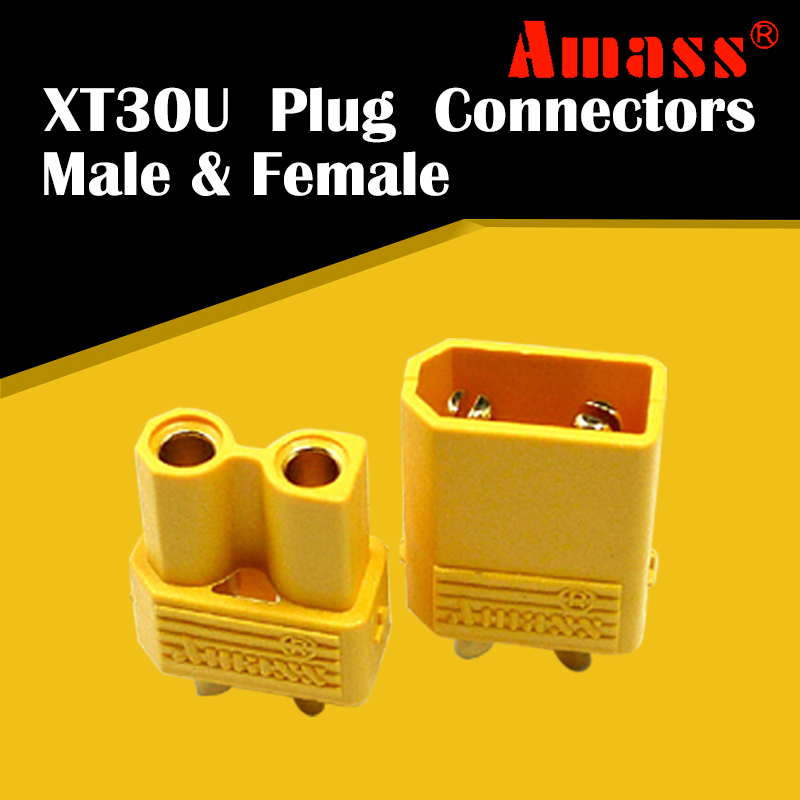 Amass 5pair XT30U Male Female Bullet Connector Plug the Upgrade XT30 For RC FPV Lipo Battery Spare Part image