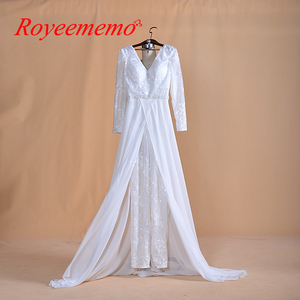 Image 2 - Bridal Jumpsuits and wedding pants suits for modern bridal new fashion beach wedding dress