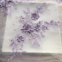 3d vestido de casamento applique diy costura material de perfuração quente remendo de renda multi-cor opcional rs2491