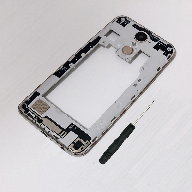 For LG K10 2017 M250 M250N M250E M250DS Original Phone New Housing Middle Frame Chassis Cover With Camera Glass Lens Fingerprint