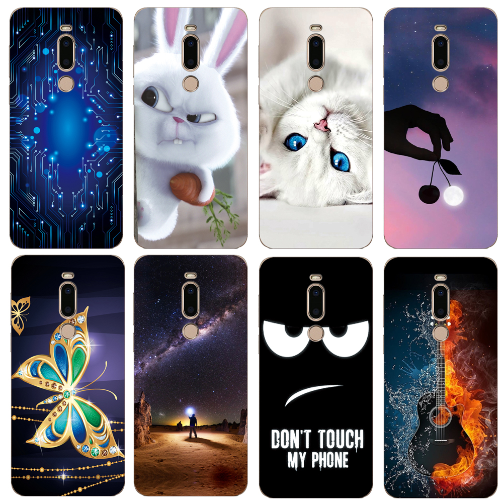 For Meizu M8 V8 Pro Case Soft TPU Protective Phone Back Case Silicone Cover Cartoon Wolf Rose Flowers Bumper Shel