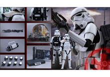 Hot Toys Star Wars Storm trooper Jedha Patrol MMS386 1/6 Action Figure Collection cool eye led light storm trooper star wars the force awakens clone troopers stormtrooper joint movable pvc action figure toys