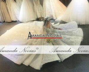 Image 3 - Amanda Novias design real work wedding dress 2020 dubai luxury bridal dress wedding gown 100% real work photos
