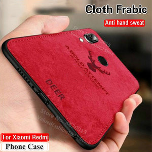 NCSW Soft Cloth Distressed Hard For Xiaomi 8 lite Redmi 7 Fabric Case Fundas Redmi Note 8T 8 7 6 5 5A pro Phone Case Back Cover(China)