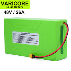 VariCore 48V/54.6V 18650 Li-ion Battery 26Ah 2000W Built in 30A BMS for Electric bicycles Motorcycle modification XT60 plug