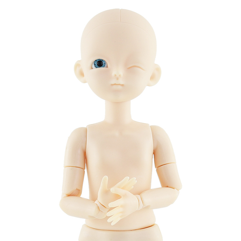 New 28cm 22 Movable Jointed BJD Dolls Toys Mini Bald Head BJD Baby Doll DIY Naked Nude Ob28 Body Dolls Toy For Girls Gift