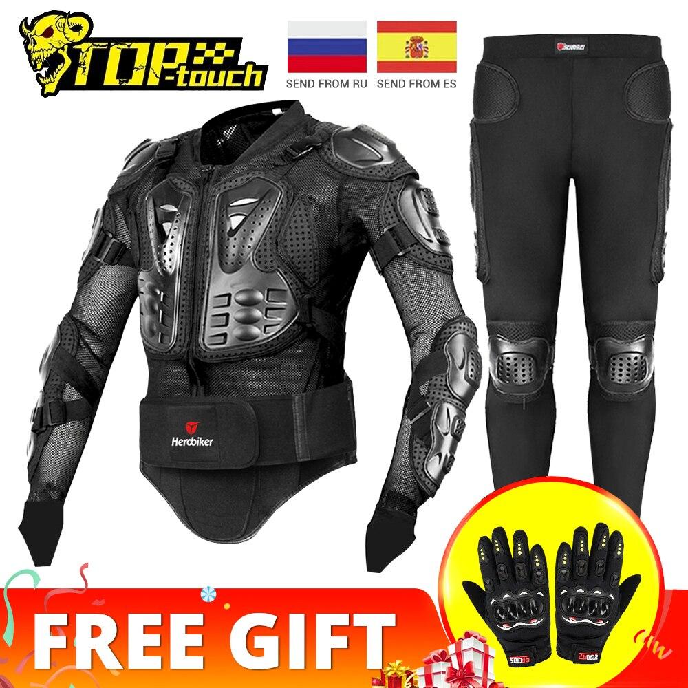 HEROBIKER אופנוע מעיל גברים מלא גוף אופנוע שריון מוטוקרוס מירוץ Moto מעיל רכיבה אופנוע הגנת גודל S-5XL #
