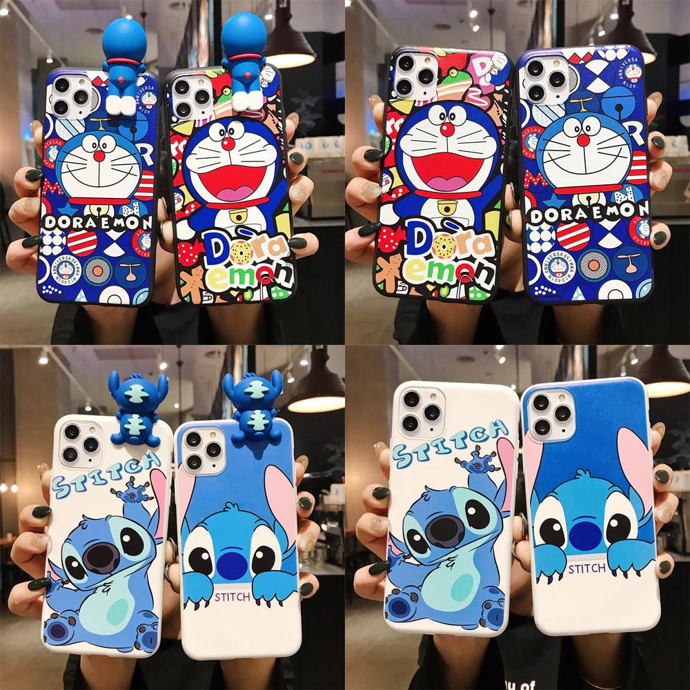Cute Cartoon 3D Stitch soft silicone phone case for <font><b>OPPO</b></font> A3 A3S A5 A39 <font><b>A57</b></font> A59 A79 A83 A7 A7X A9 F9 F11 A9 2020 <font><b>back</b></font> <font><b>cover</b></font> image