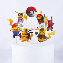 Decorating-Tools Pikachu Party-Props Baking-Supplies Pokemon Birthday-Party Event Theme-Cake-Label