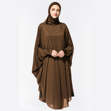 Muslim Lady Abaya with Hijabs Arab Women Thobe and Hijab Prayer Clothing