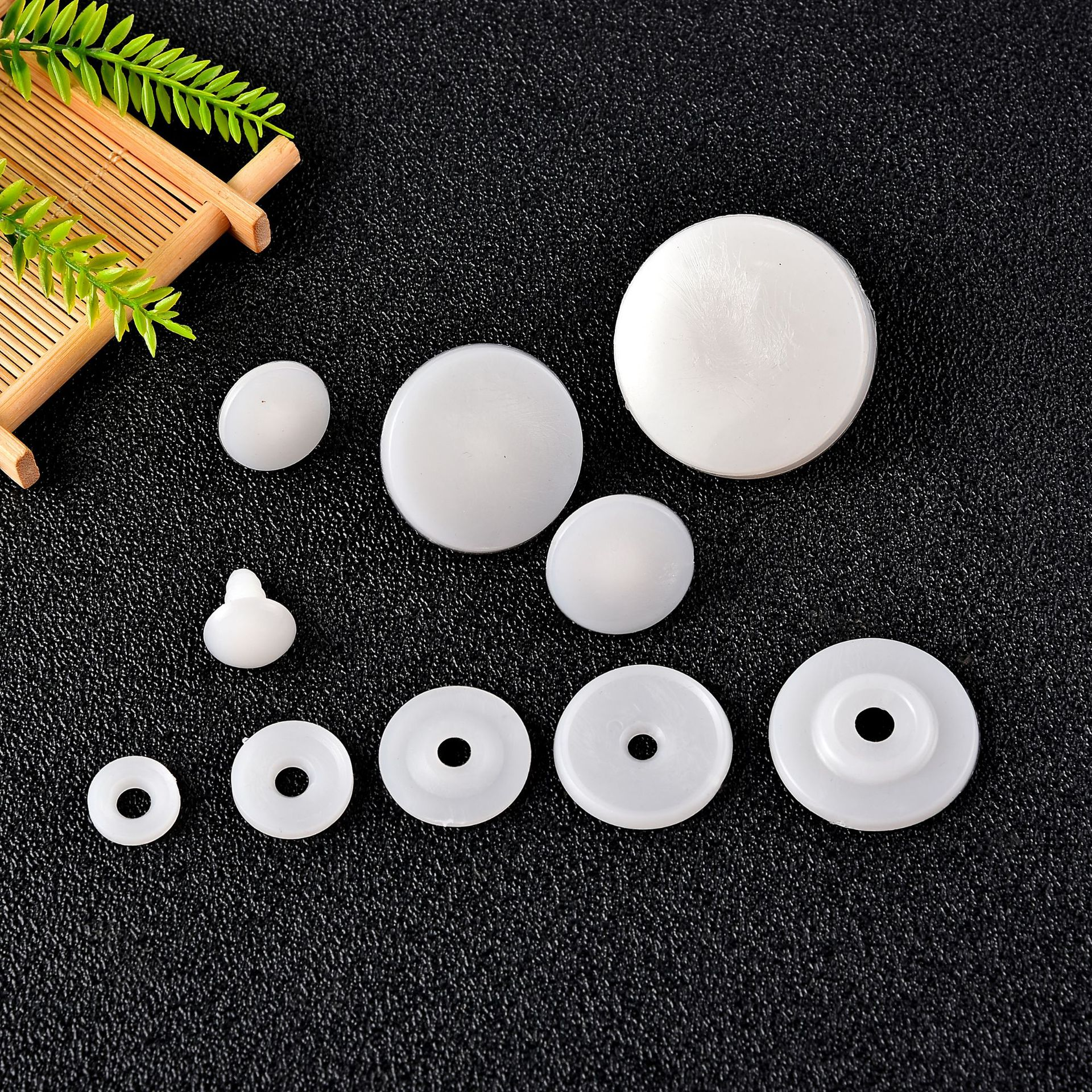 50set 15/20/25mm White Plastic DIY Doll Joints Teddy Bear Making Crafts Gifts Kids Toy Dolls Accessories Gifts For Child Toys