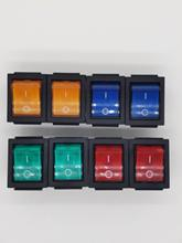 5PCS KCD4-202 DPST boat rocker switch power switch 4 feet with red green blue yellow light 31x25mm 20A 125VAC 16A 250VAC цена 2017