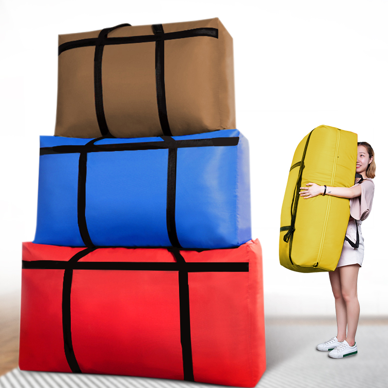 Large Capacity Woven Bag Moving House Storage Bag Extra Large Oxford Canvas Pocket Duffel Bag Thickening Travel Bag No Smell