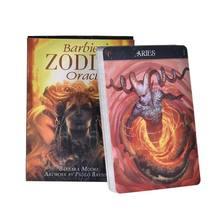 Barbiero oráculo do zodíaco, 26 cartas, baralho de orientação misteriosa, destino de adivinhação
