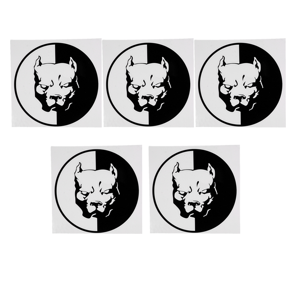 5 Count Dog Head Warning Stickers 12cmx12cm Waterproof Diving Gear Decals For Truck Car Laptop