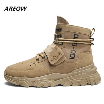 Sports Shoes British Wind with Flat Bottom Skid Autumn and Winter Martin Boots 2