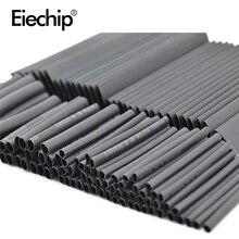 127pcs/lot Heat Shrink Tubing 7.28m 2:1 Black Tube Car Cable Sleeving Assortment Wrap Wire Kit termoretractil Polyolefin Tubing