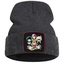 Winter Caps Bonnet Anime Hats Beanie-Cap Knitted-Hat Warm Academia-Japan Cotton Hero