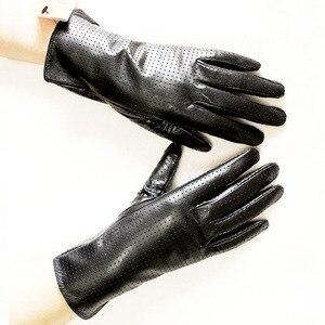 Image 5 - ถุงมือหนังแพะผู้หญิงฤดูใบไม้ผลิบางเรยอนซับหนังสไตล์ Repair Hand ฤดูร้อน sheepskin ขับรถถุงมือ