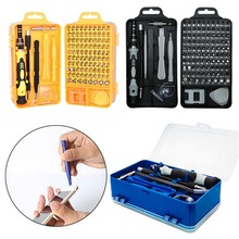 110 In 1 Set Magnetic Torx Screwdriver Lengthen Muti Precision For PC Phone Hand Tools Kits With Crowbar Tweezer
