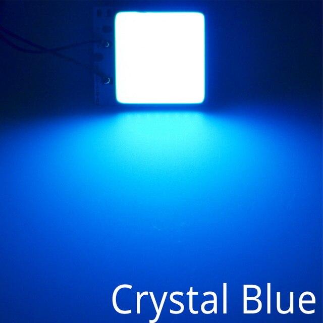 Белый, красный, синий T10 W5w Cob 24SMD 36SMD Автомобильный светодиодный панельный светильник для автомобиля, лампа для чтения в салоне автомобиля, купольная гирлянда BA9S DC 12v - Испускаемый цвет: Кристально-синий